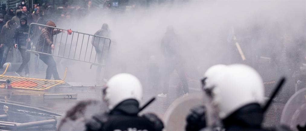 Σοβαρά επεισόδια σε αντιμεταναστευτική συγκέντρωση στις Βρυξέλλες (βίντεο)