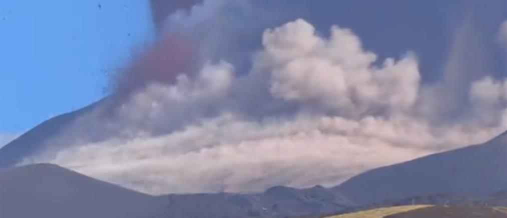 """Αίτνα: """"ξύπνησε"""" το ηφαίστειο της Σικελίας (εικόνες)"""