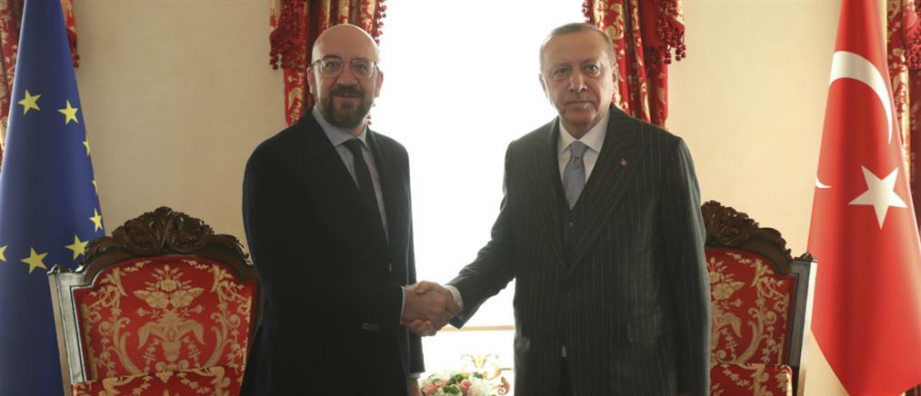 Μισέλ σε Ερντογάν: Η ΕΕ στο πλευρό της Ελλάδας και της Κύπρου