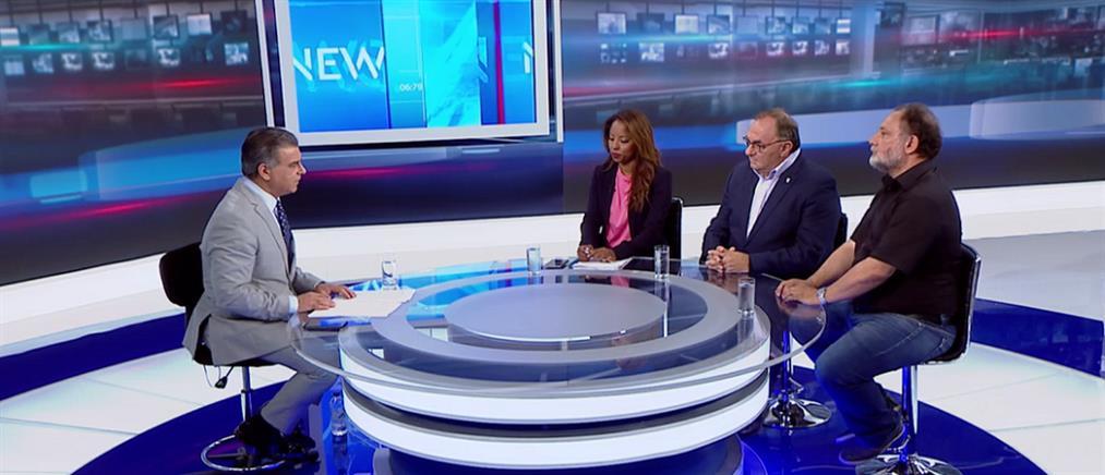 Εκλογές 2019: Λεβέντη, Καλογερόπουλος και Δραγανίγος στον ΑΝΤ1 (βίντεο)