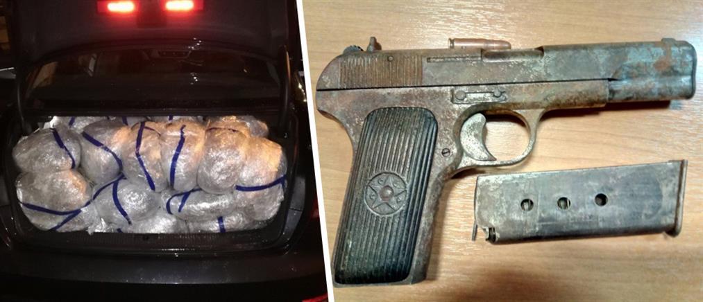 Οπλισμένος μετέφερε 105 κιλά χασίς με νοικιασμένο αυτοκίνητο (εικόνες)