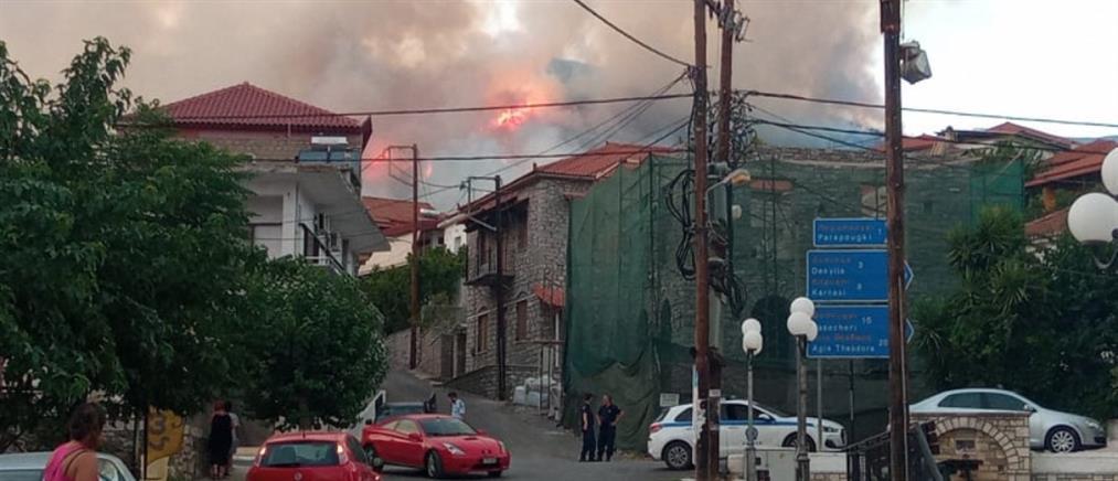 Φωτιά και στην Μεσσηνία  - Εκκενώνονται περιοχές