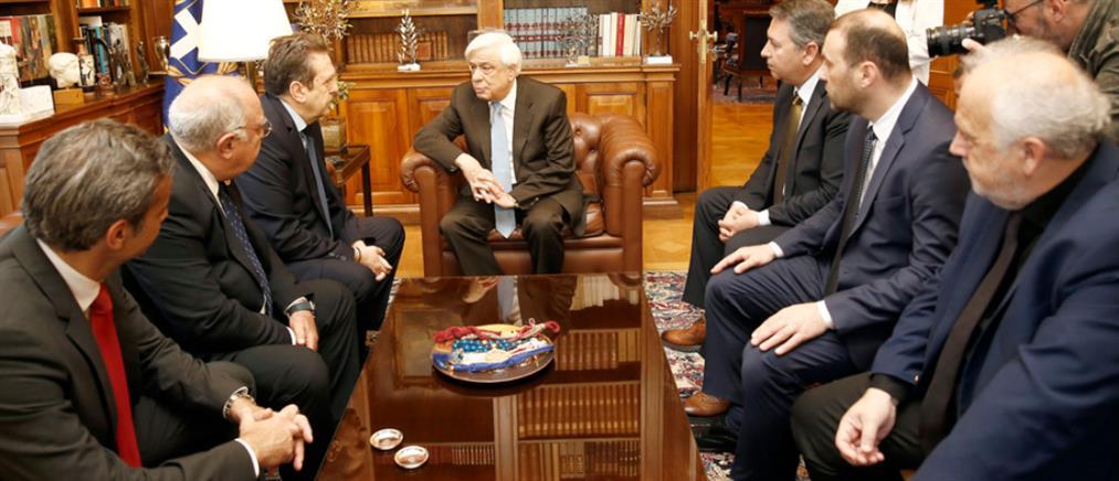 """Παυλόπουλος: """"Ραχοκοκαλιά"""" της οικονομίας η μικρομεσαία επιχείρηση"""