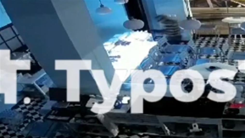 Βίντεο απο διάρρηξη σε καφέ της Θεσσαλονίκης
