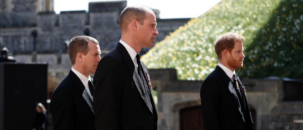 Κηδεία πρίγκιπα Φιλίππου: Ουίλιαμ και Χάρι σε απόσταση...