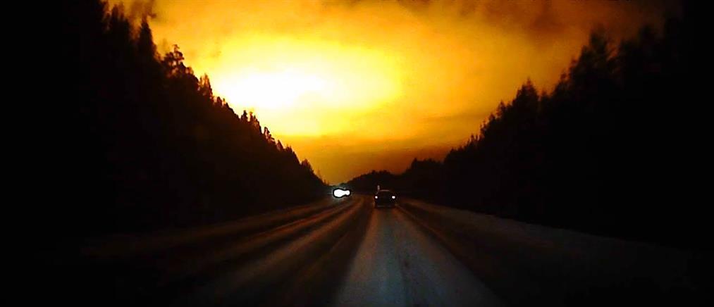 Ύποπτη λάμψη φώτισε τον ουρανό της Ρωσίας