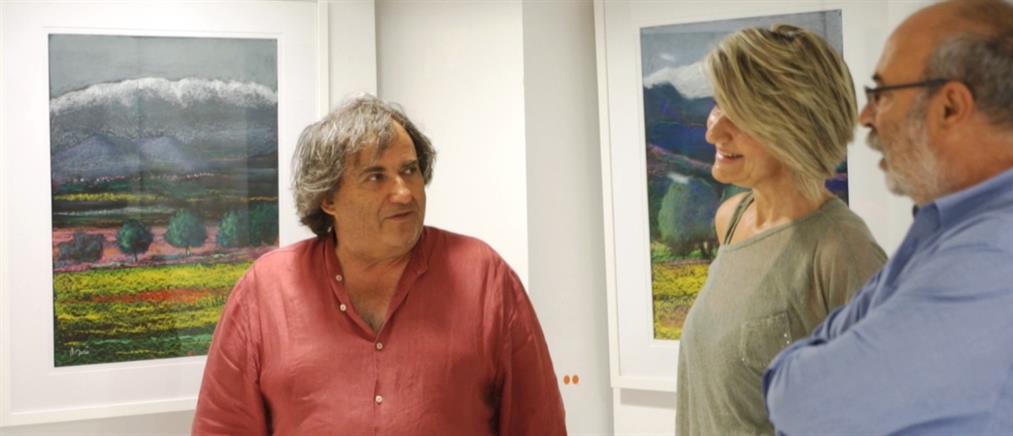 """Λουδοβίκος των Ανωγείων: Έκθεση ζωγραφικής με τίτλο """"ΣΥΝΝΕΦΑ και ΚΑΤΣΙΦΑΡΕΣ"""" (εικόνες)"""