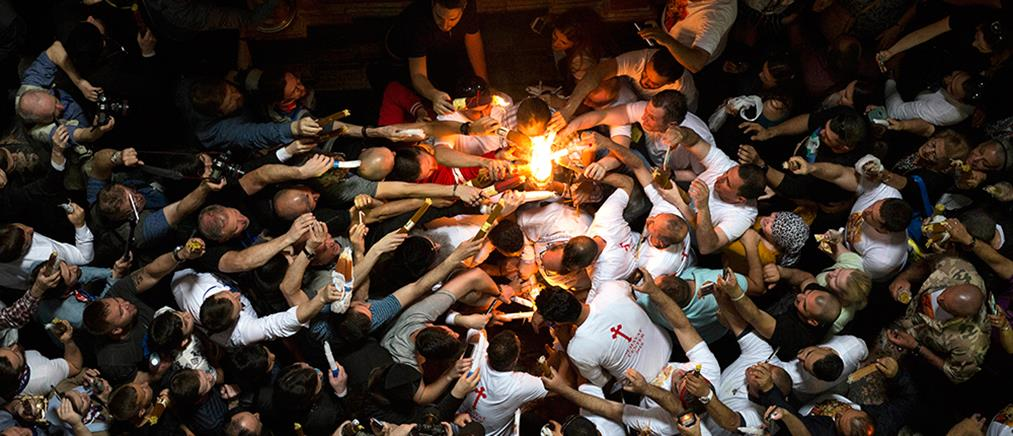 H τελετή Αφής του Αγίου Φωτός στα Ιεροσόλυμα