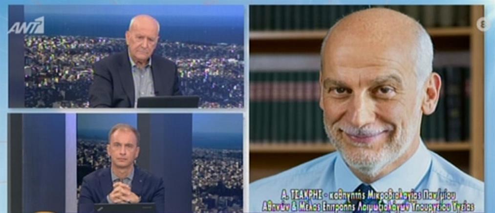 Τσακρής στον ΑΝΤ1 για κορονοϊό: αν δεν ληφθούν μέτρα η κατάσταση θα βγει εκτός ελέγχου (βίντεο)