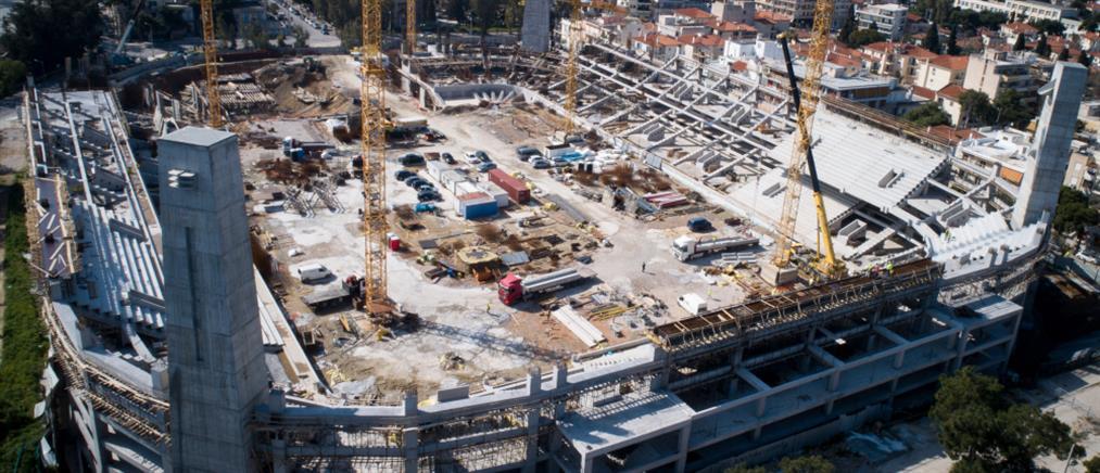 """Γήπεδο ΑΕΚ: ψηλώνουν τα… τείχη της """"Αγιά Σοφιάς"""" (αεροφωτογραφίες)"""