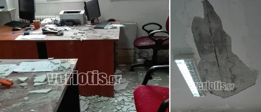Νοσοκομείο Βέροιας: Έπεσε το ταβάνι και τους πλάκωσε (εικόνες)