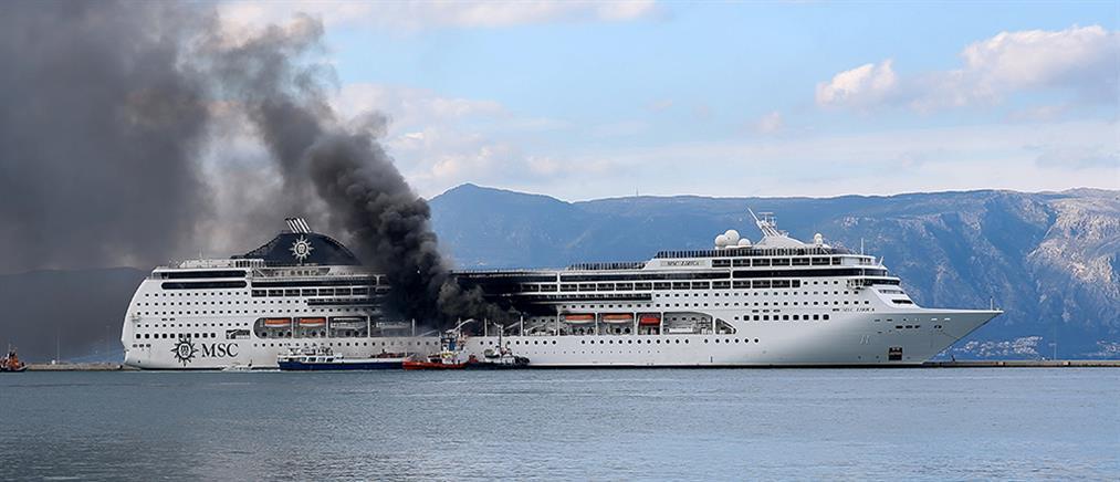 Κέρκυρα: Φωτιά σε κρουαζιερόπλοιο (εικόνες)
