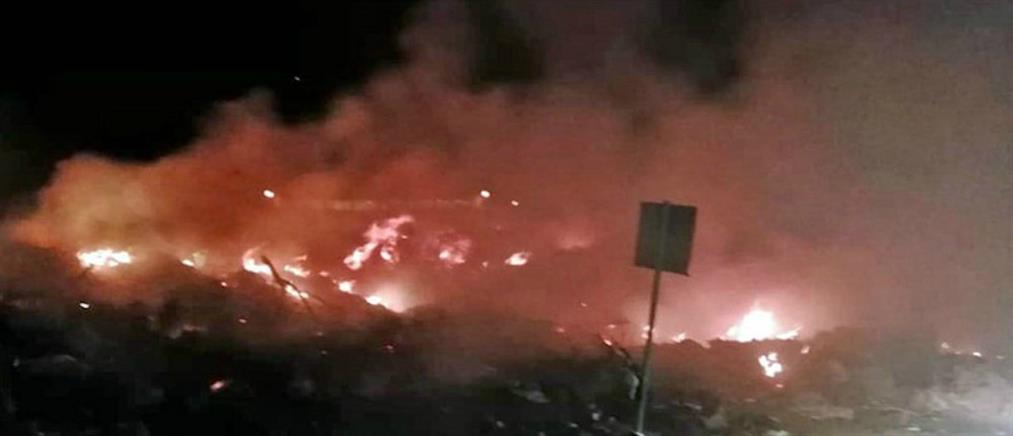 Μεγάλη φωτιά στην Καβάλα (εικόνες)