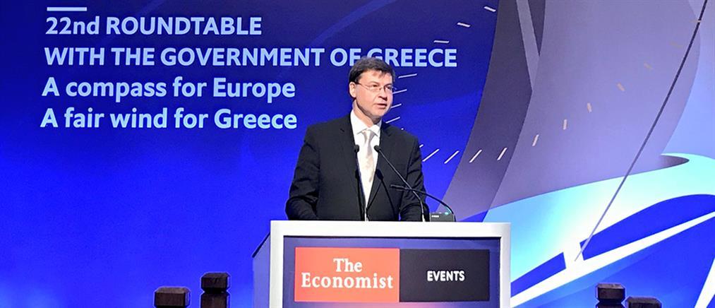 """Ντομπρόβσκις: Η """"Οδύσσεια"""" της Ελλάδας πλησιάζει στο τέλος της"""