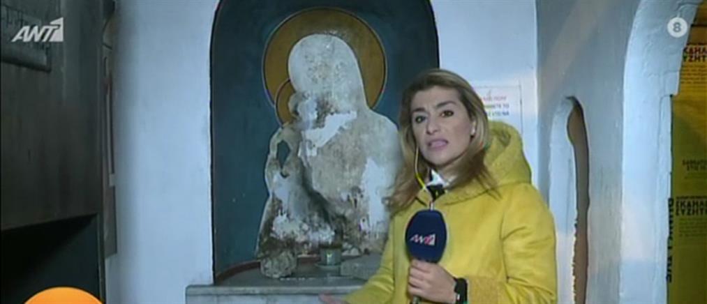 Θεσσαλονίκη: έκαψαν την εικόνα της Παναγίας σε εκκλησάκι στο κέντρο της πόλης (βίντεο)