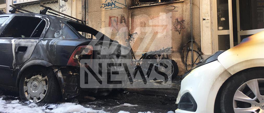 Εμπρησμός οχημάτων στο κέντρο της Αθήνας (εικόνες)