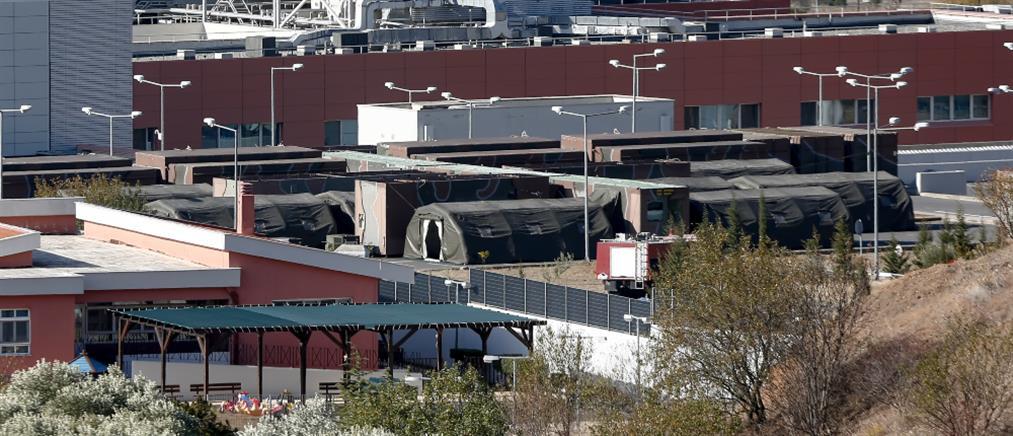Θεσσαλονίκη: Στη μάχη για τον κορονοϊό κινητή μονάδα έξω από το 424 Στρατιωτικό Νοσοκομείο (εικόνες)