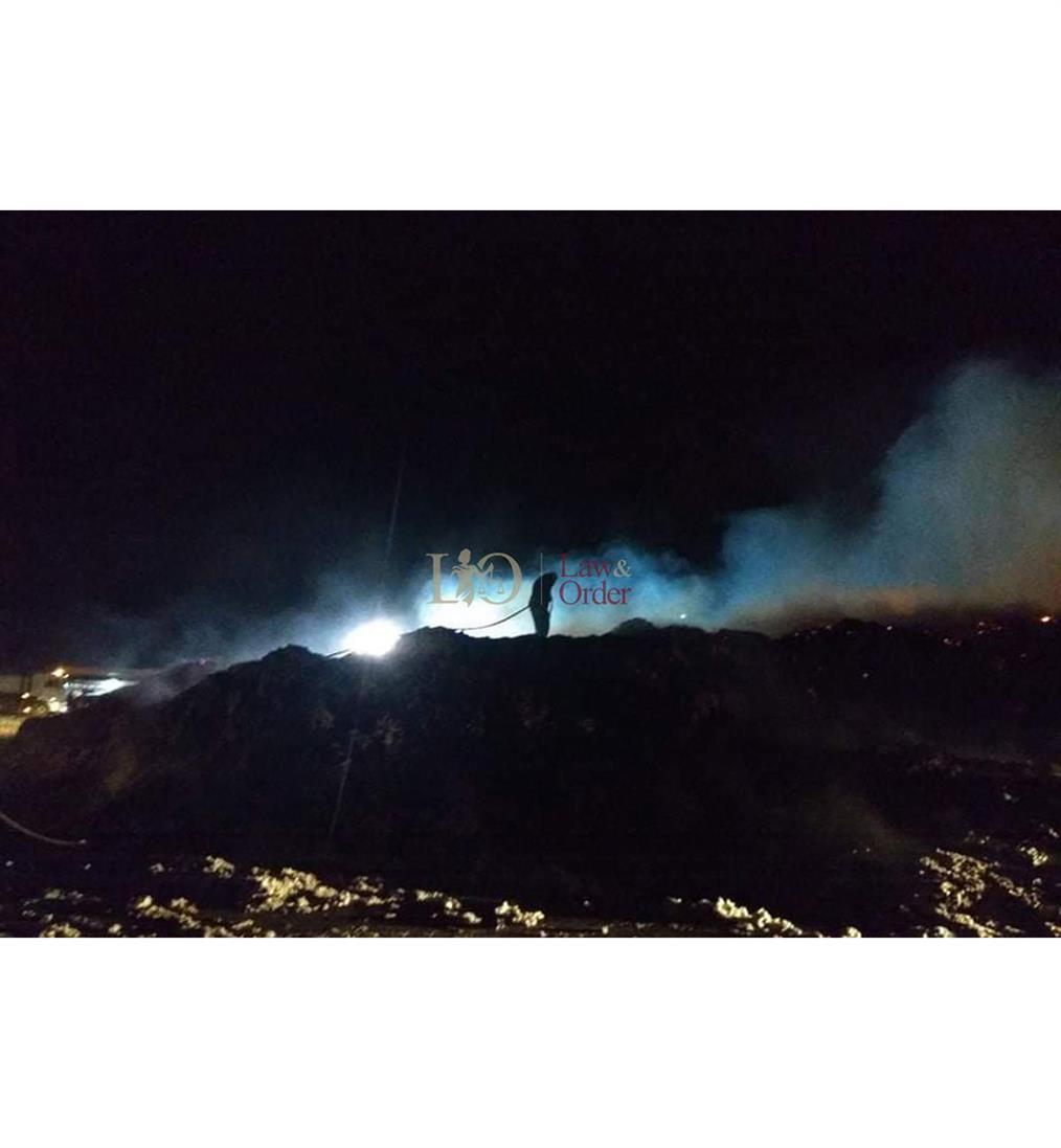 Φωτιά - εκκοκκιστήριο βαμβακιού - Καρδίτσα