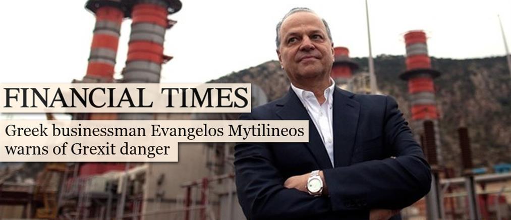 Μυτιληναίος στους FT: Δεν πέρασε ο κίνδυνος για Grexit
