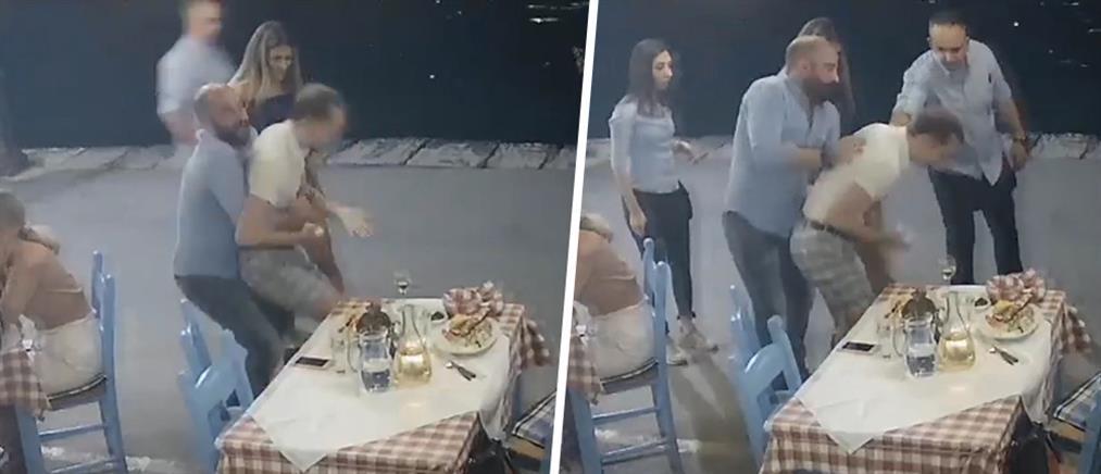Συγκλονιστικό βίντεο: Η στιγμή που ταβερνιάρης στα Χανιά σώζει πελάτη από πνιγμό