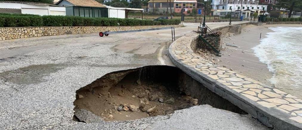 Σε κατάσταση έκτακτης ανάγκης περιοχές της Κέρκυρας
