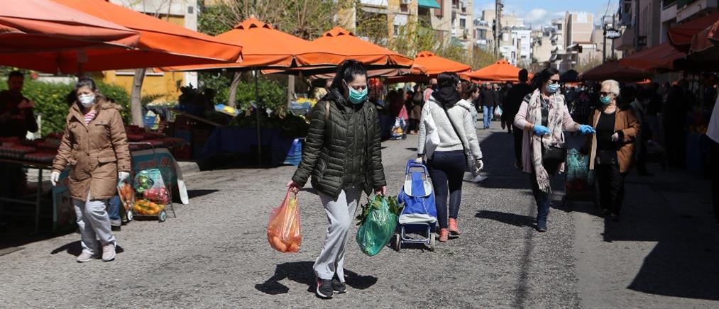 Κορονοϊός: Διπλασιάστηκαν οι λαϊκές αγορές στην Αττική