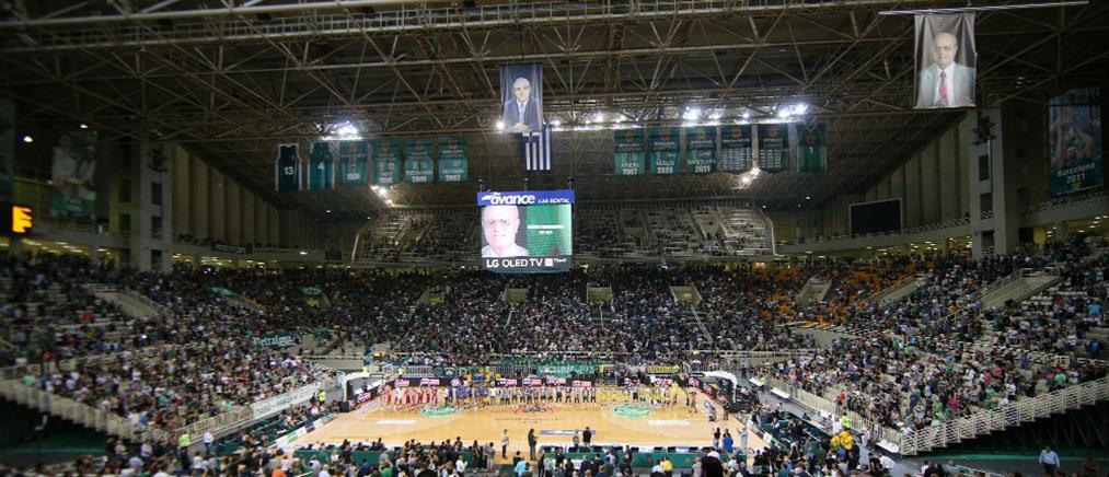Θανάσης Γιαννακόπουλος: Στον ουρανό του ΟΑΚΑ το λάβαρο με το πρόσωπό του (εικόνες)