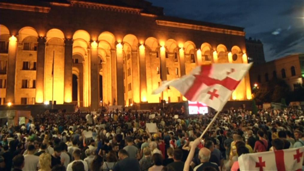 Συνεχίζονται οι διαδηλώσεις στη Γεωργία