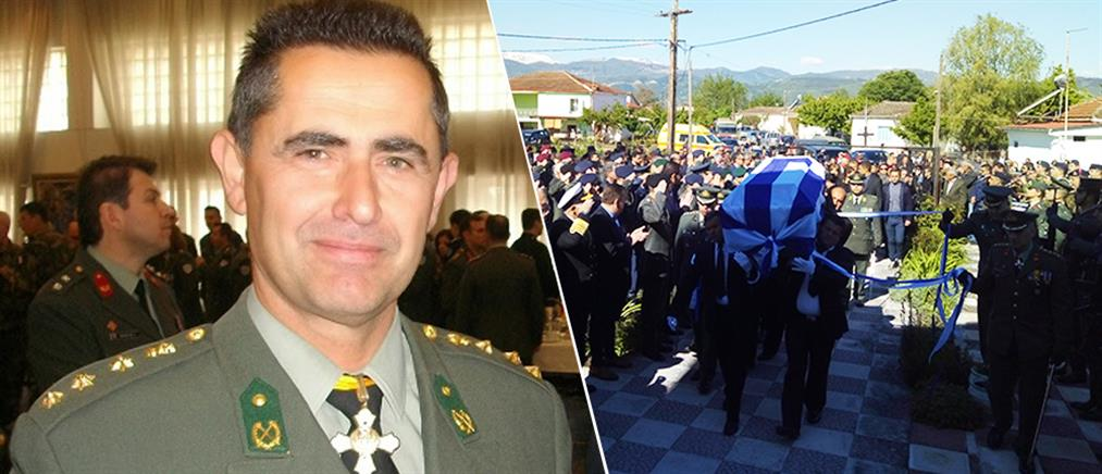 Θρήνος στην κηδεία του Συνταγματάρχη Θωμά Αδάμου (φωτο)