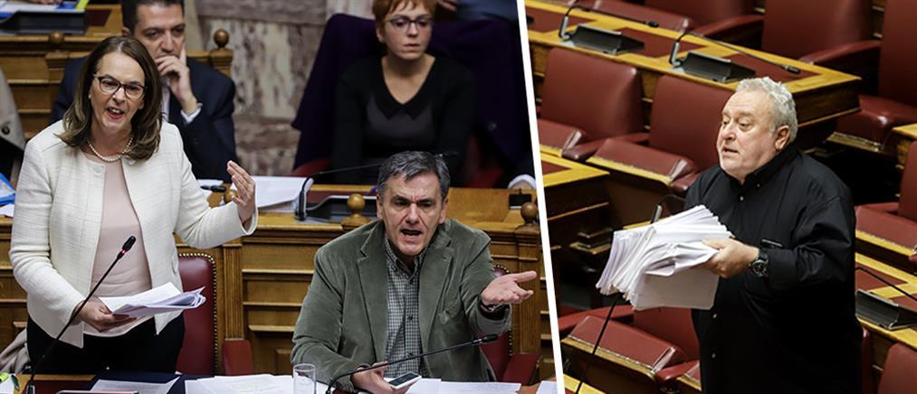 """Βουλή: Ένταση και αποχωρήσεις για το """"τσουνάμι"""" τροπολογιών"""