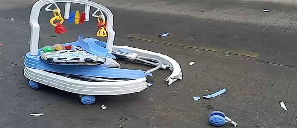 Βίντεο – σοκ: Μωρό με τη στράτα βγήκε στο δρόμο και το σκότωσε φορτηγό