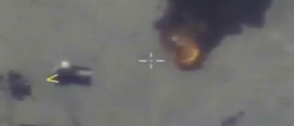 Βίντεο ντοκουμέντο: ρωσικά μαχητικά βομβαρδίζουν αυτοκινητοπομπή του ISIS