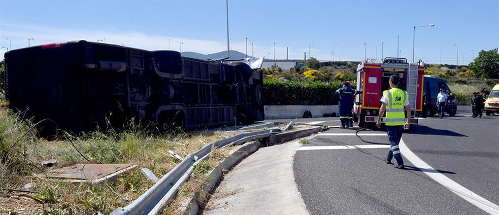 Ανετράπη κλούβα του Μεταγωγών στην Αθηνών - Κορίνθου