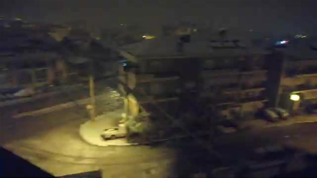 Έντονη χιονόπτωση στη Βέροια
