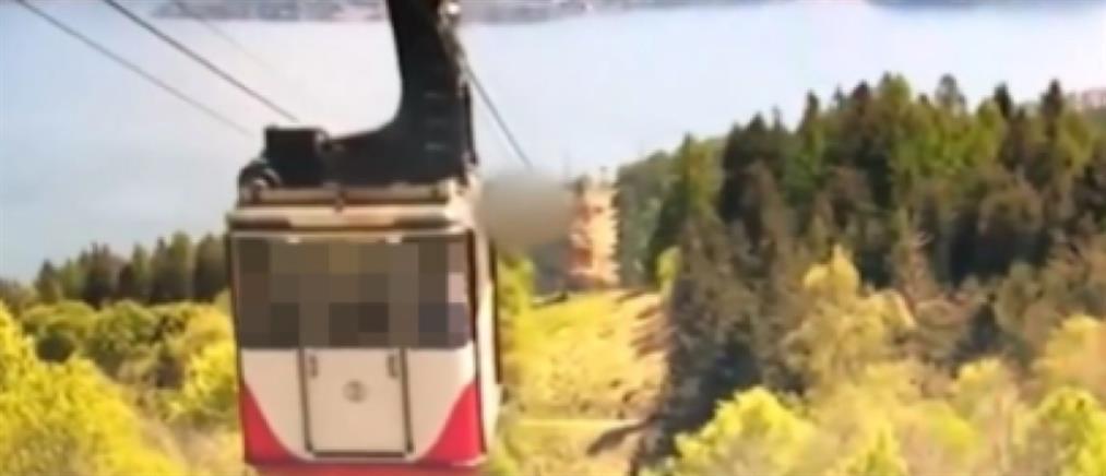 Ιταλία - Πτώση τελεφερίκ: βίντεο από το δυστύχημα