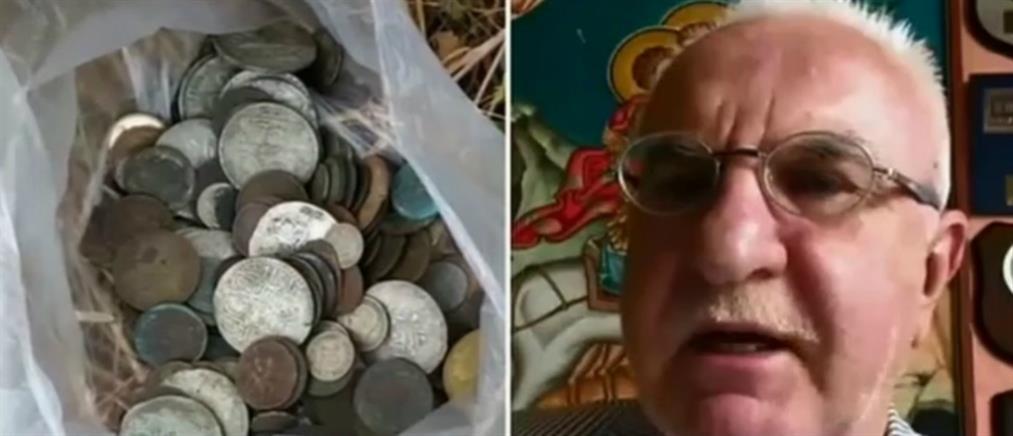Αρχαιοκάπηλος εγκατέλειψε θησαυρό σε χωράφι (βίντεο)