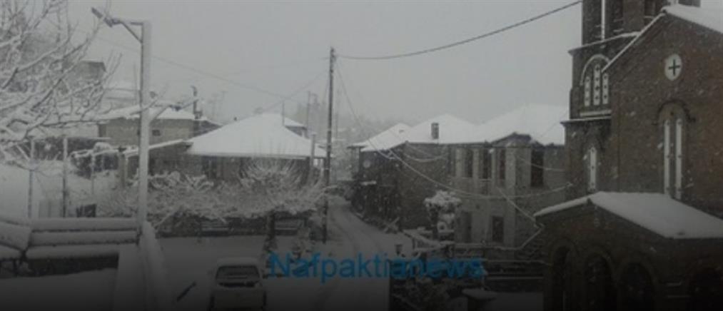 Αποκλεισμένα και χωρίς ρεύμα παραμένουν χωριά στην ορεινή Ναυπακτία