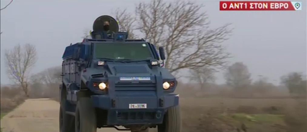 """Αποκλειστικό ΑΝΤ1: Το τεθωρακισμένο όχημα """"Τυφώνας"""" στον Έβρο (βίντεο)"""