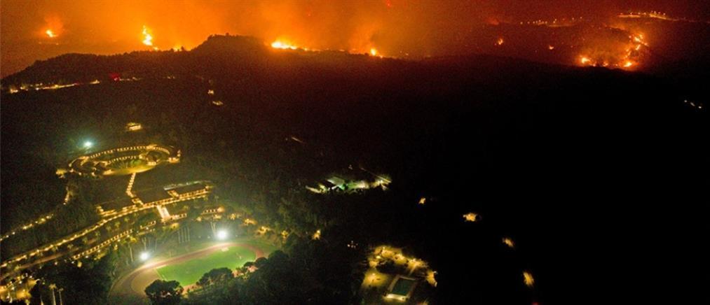 """Φωτιά στην Αρχαία Ολυμπία - Χρυσοχοΐδης: """"Μάχη"""" για να μείνει ακέραιος ο αρχαιολογικός χώρος"""