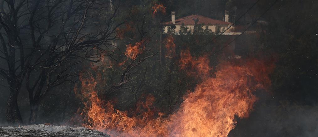 Φωτιά στην Αττική: Καίγονται σπίτια, ανεξέλεγκτο το πύρινο μέτωπο (εικόνες)