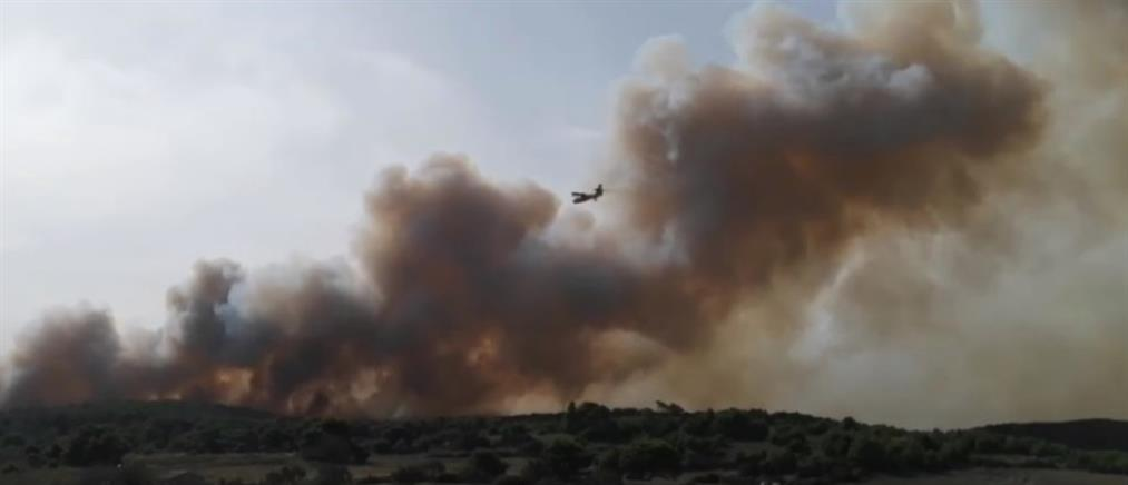 Μεγάλη φωτιά στη Ζάκυνθο (βίντεο)
