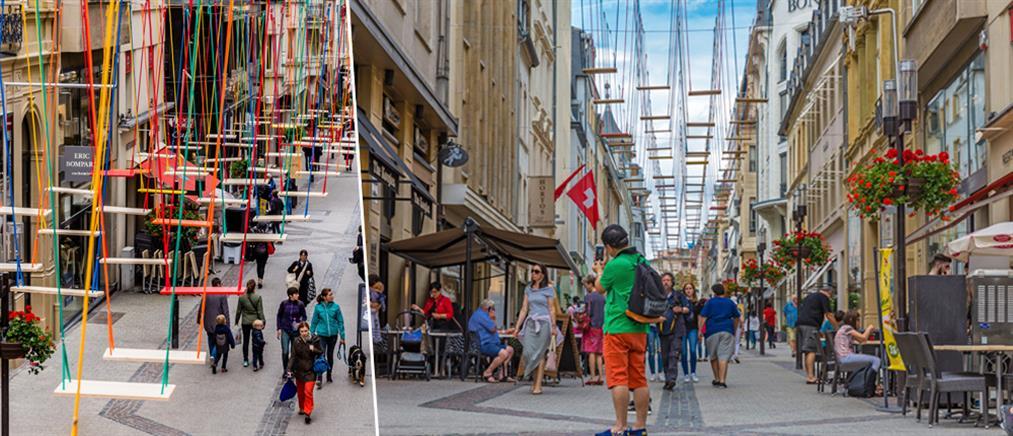 """""""Βρέχει κούνιες"""" στο Λουξεμβούργο (βίντεο)"""