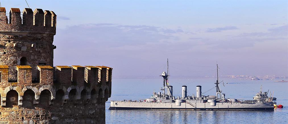 Ξεκίνησε το ταξίδι της επιστροφής του Αβέρωφ από τη Θεσσαλονίκη (βίντεο)