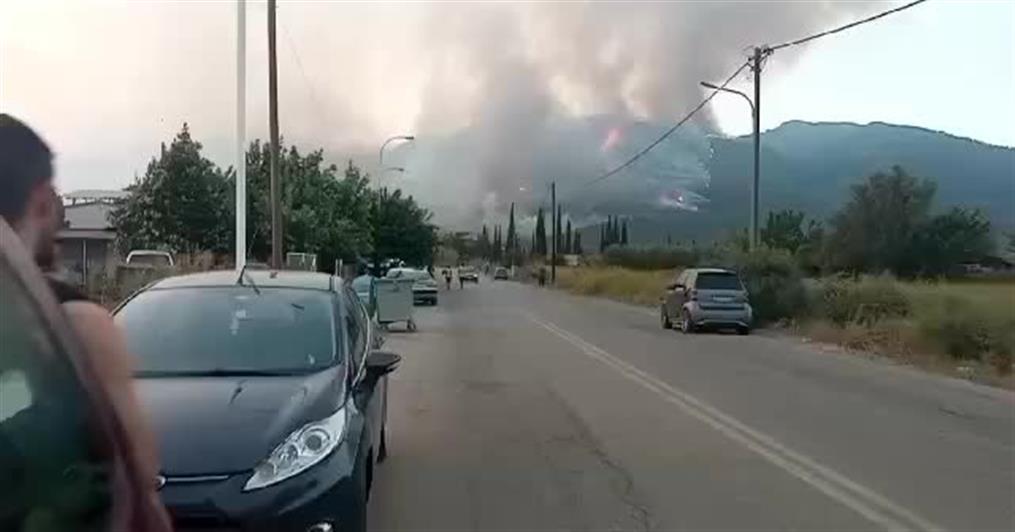Ανησυχία για την φωτιά στην Μεσσηνία