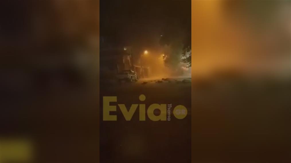 Πλημμύρες από την κακοκαιρία στο Κοντοδεσπότι Ευβοίας