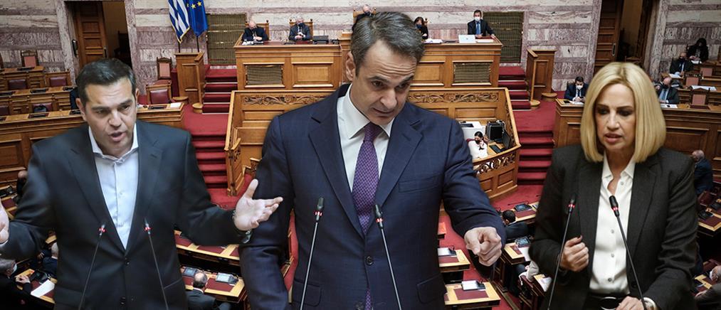 """Βουλή: η """"μάχη"""" των αρχηγών για την πανδημία κορονοϊού"""