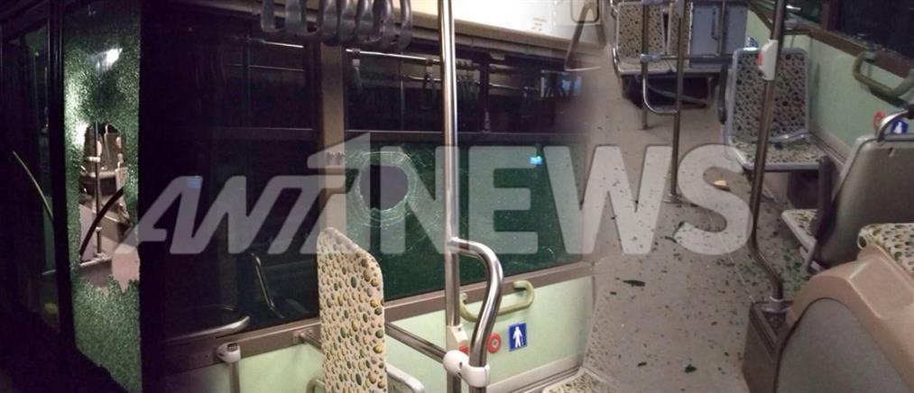 Ανησυχία των οδηγών για τις επιθέσεις στα λεωφορεία του ΟΑΣΑ (εικόνες)