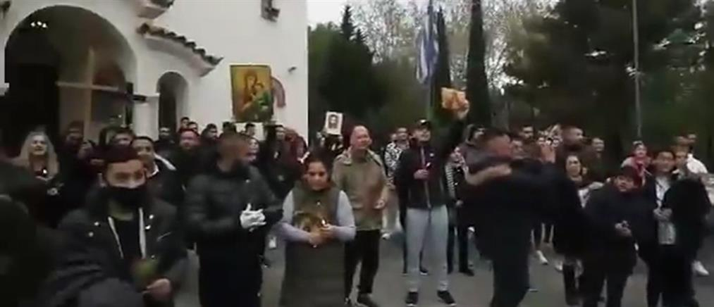 Αγία Βαρβάρα: επέμβαση της αστυνομίας για συγκέντρωση 100 ατόμων σε ναό