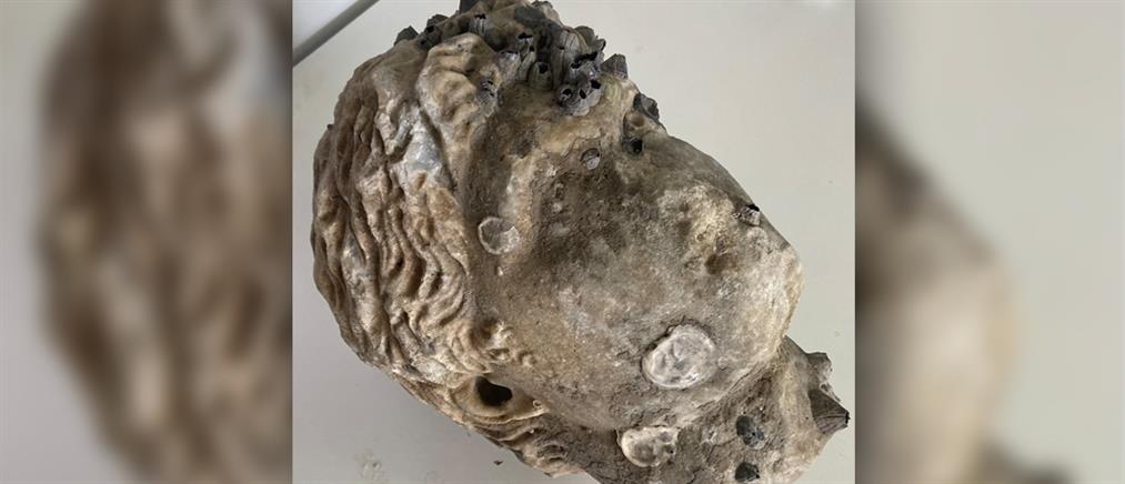 Πρέβεζα: Ρωμαϊκή κεφαλή ανασύρθηκε από τη θάλασσα (εικόνες)