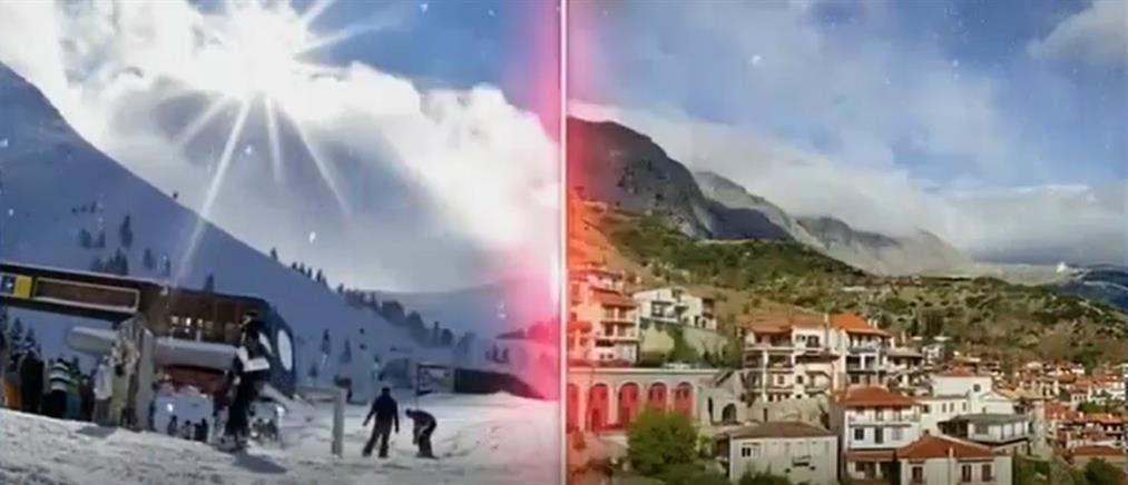 Το αδιαχώρητο επικρατεί στην Αράχωβα (βίντεο)